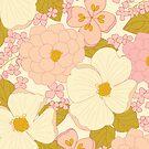 Pink Pastel Vintage Floral Pattern by Eyestigmatic