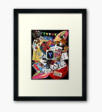Back to the Future Trilogy MIX (saturated version) Framed Print