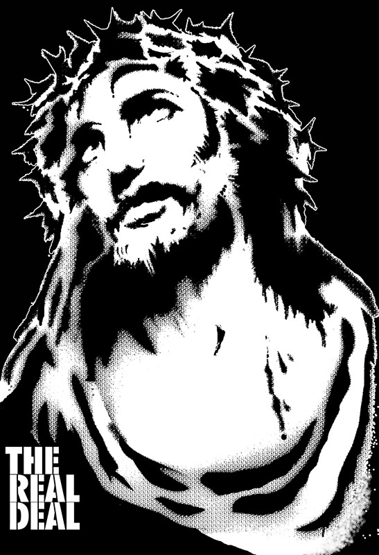 jesus stencil posters by masterplan redbubble
