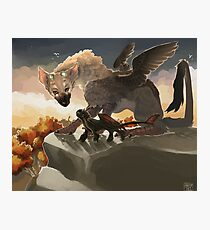 Trico and Toothless Photographic Print