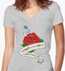 Love is Pain (Alex and Piper Tattoo Tribute) Women's Fitted V-Neck T-Shirt