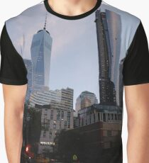 #Chambers, #Happiness, #Building, #Skyscraper, #NewYork, #Manhattan, #Street, #Pedestrians, #Cars, #Towers, #morning, #trees, #subway, #station, #Spring, #flowers, #Brooklyn  Graphic T-Shirt