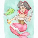 MerMay 2018: May 7th - Pirate Mermaid by dreampigment