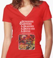 Camiseta entallada de cuello en V Dungeons & Diners & Dragons & Drive-Ins & Dives: Imagen ligeramente más grande