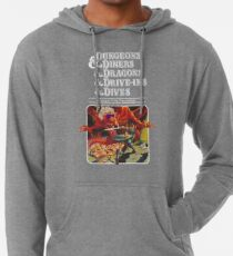 Dungeons & Diners & Dragons & Drive-Ins & Dives: Slightly Larger Image Lightweight Hoodie