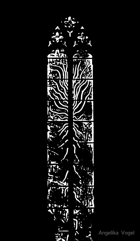 A Black Painted Church Window... by Angelika  Vogel