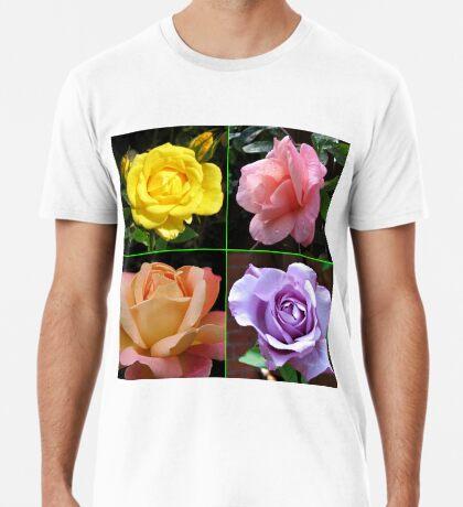 Rosen-Collage im gespiegelten Rahmen Premium T-Shirt