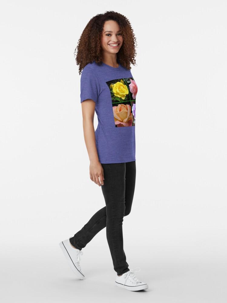 Alternative Ansicht von Rosen-Collage im gespiegelten Rahmen Vintage T-Shirt