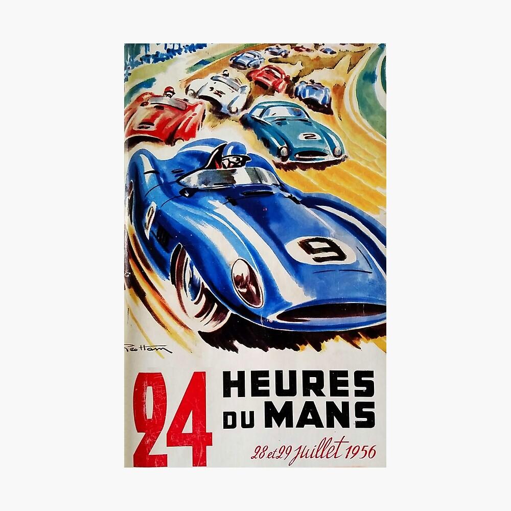 Le Mans Poster, Le Mans T-Shirt, 1956, Vintage Poster, Le Mans Aufkleber Fotodruck