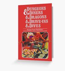 Dungeons & Diners & Dragons & Drive-Ins & Dives: Etwas größeres Bild Grußkarte