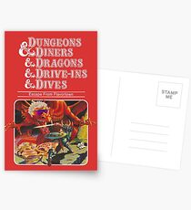 Dungeons & Diners & Dragons & Drive-Ins & Dives: Slightly Larger Image Postcards