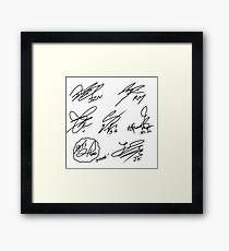 BTS autographs Framed Print