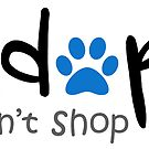 Adopt Dont Shop - Blue Paw by catloversaus