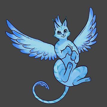 Phoenix Cat - Royal Blue by RaptagonStudios