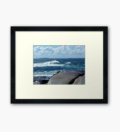 My Blue Ocean Framed Print