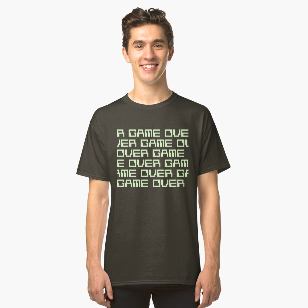 GAME OVER (green) Classic T-Shirt