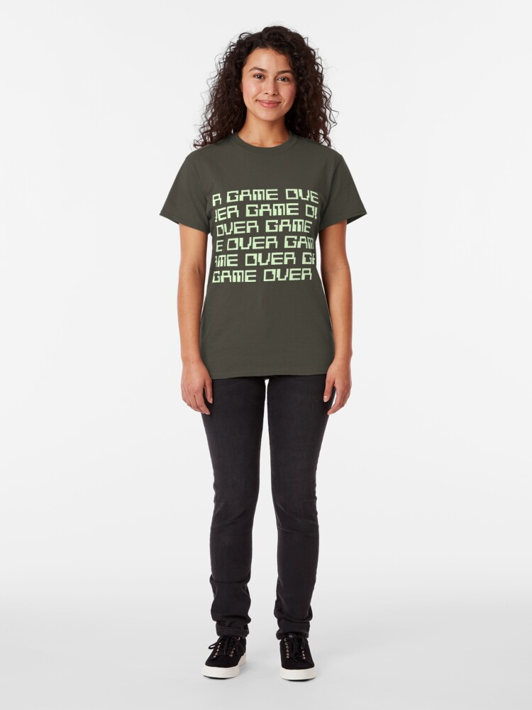 Alternate view of GAME OVER (green) Classic T-Shirt