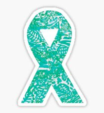 Lilly Teal Ribbon Sticker