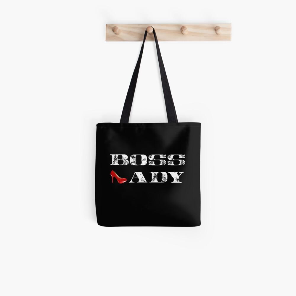 Boss Lady Hemd, Boss Lady rotes Stilett, Boss T-Shirt Tote Bag