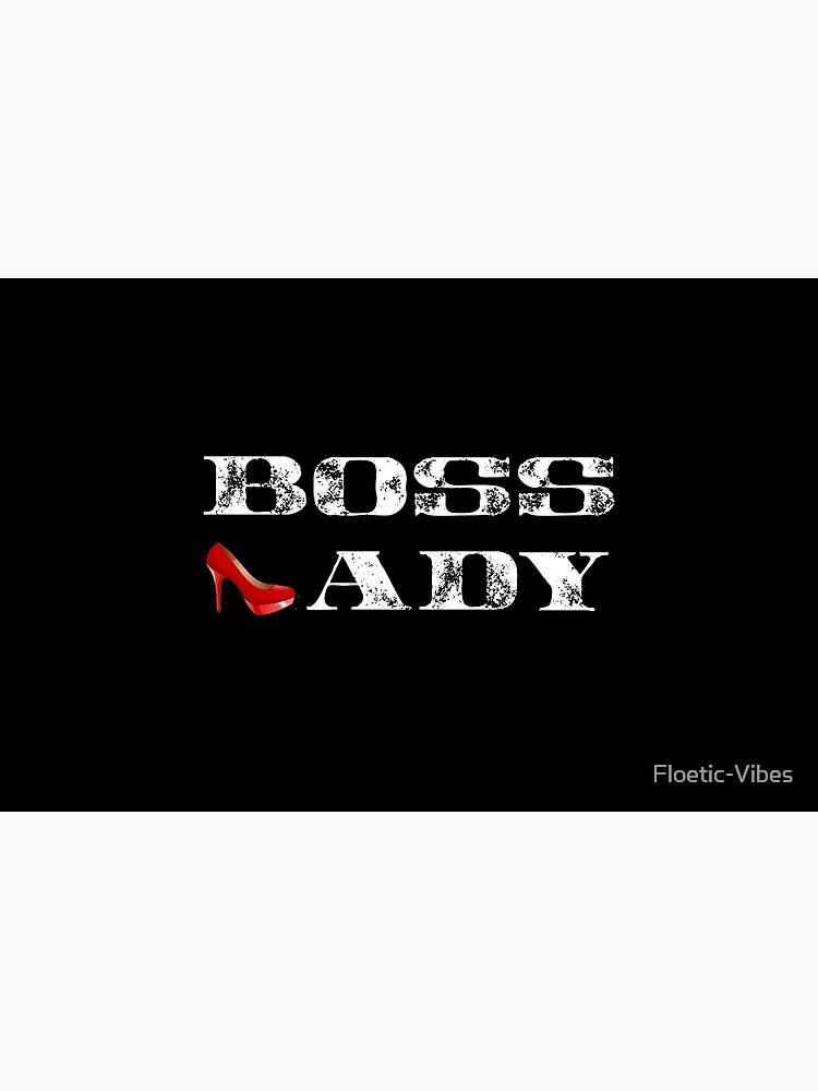 Boss Lady Hemd, Boss Lady rotes Stilett, Boss T-Shirt von Floetic-Vibes