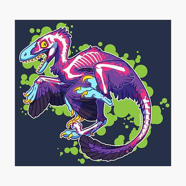 Radioactive Velociraptor Photographic Print