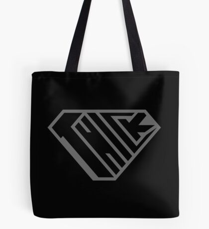 Thick SuperEmpowered (Black on Black) Tote Bag