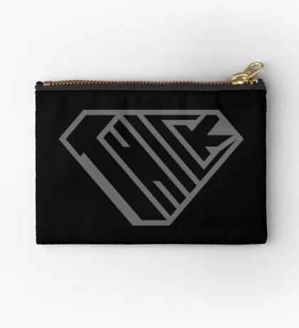 Thick SuperEmpowered (Black on Black) Zipper Pouch