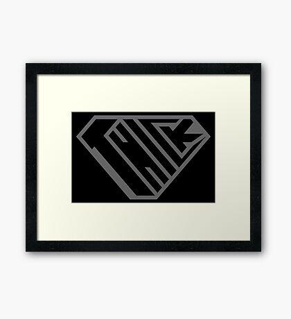 Thick SuperEmpowered (Black on Black) Framed Art Print