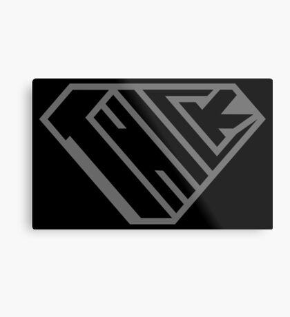 Thick SuperEmpowered (Black on Black) Metal Print