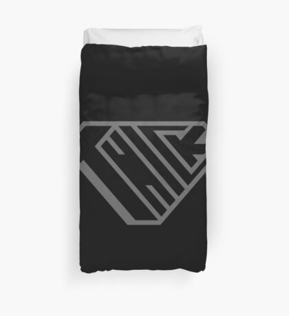 Thick SuperEmpowered (Black on Black) Duvet Cover