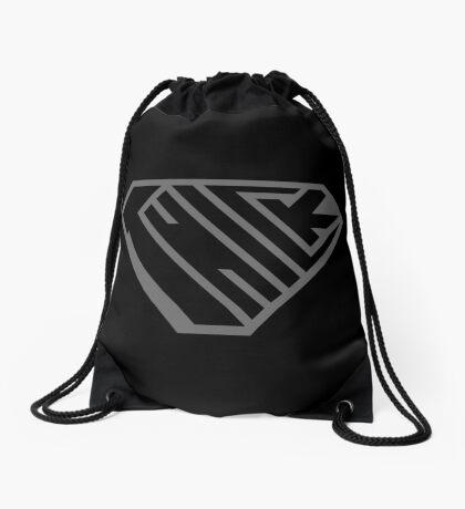 Thick SuperEmpowered (Black on Black) Drawstring Bag