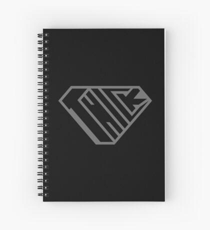 Thick SuperEmpowered (Black on Black) Spiral Notebook