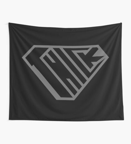 Thick SuperEmpowered (Black on Black) Wall Tapestry