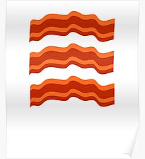 Three Bacon Strips ~ Food Foodie Restaurant Poster