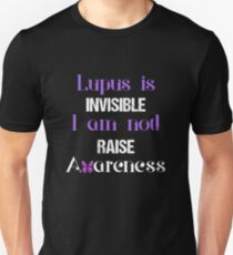 Lupus-Bewusstseinshemd, Lupus, erhöhen Bewusstsein, Lupus ist unsichtbar Ich bin nicht Hemd Slim Fit T-Shirt