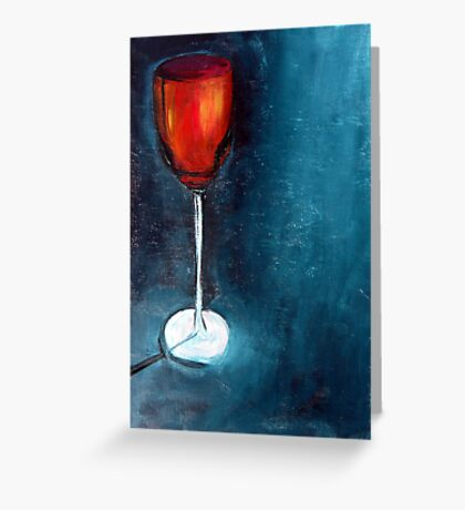 The red glass Greeting Card