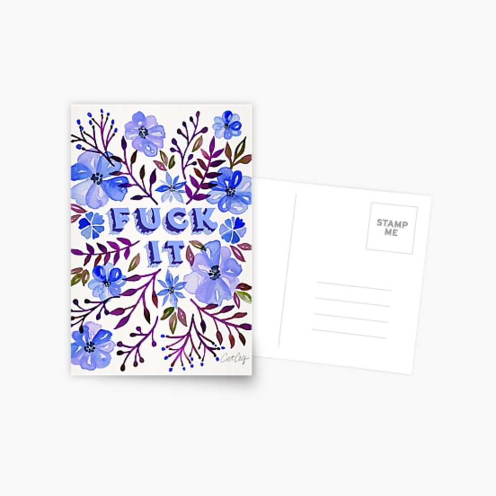 F*ck It – Blueberry Palette Postcard