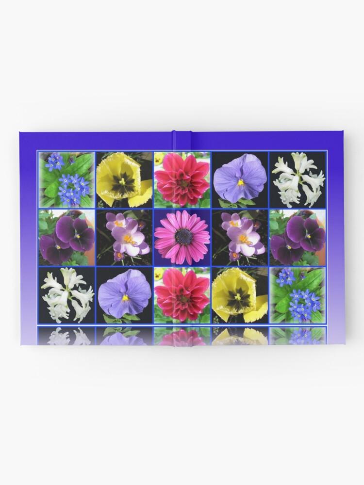 Alternative Ansicht von Voices of Spring - Floral Collage in Blue Reflection Frame Notizbuch