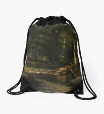 The Brook in the Woods Drawstring Bag