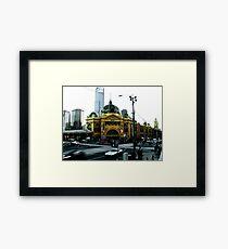 Photograph of Flinders Street Station Melbourne Framed Print