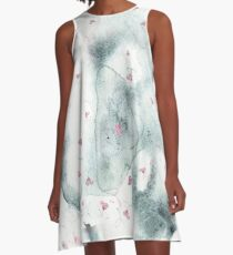 Ethereal Cat Nose Pattern A-Line Dress
