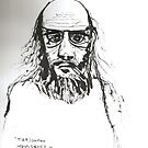 Self Indulgence = Small Pupils - Self Portrait by Peter Searle ( the Elder )
