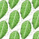 Swirly Green Leaf Pattern by Boriana Giormova