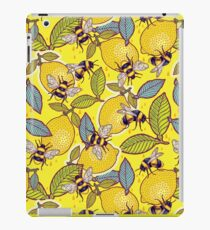 Yellow lemon and bee garden. iPad Case/Skin