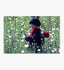 Mien mother and baby harvesting opium poppy Photographic Print