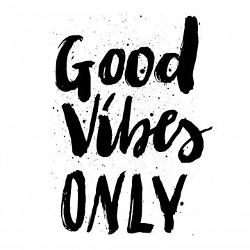 GOOD VIBES NUR SPLATTER TYPOGRAPHIE von colorcollective