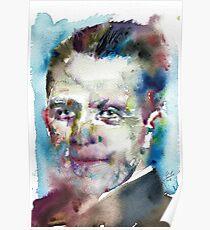 WERNER HEISENBERG - watercolor portrait Poster