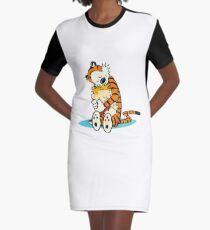 calvin and hobbes Graphic T-Shirt Dress
