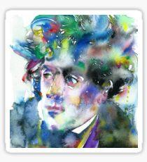 FRANCOIS-RENE DE CHATEAUBRIAND - watercolor portrait Sticker