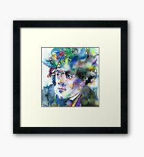 FRANCOIS-RENE DE CHATEAUBRIAND - watercolor portrait Framed Print